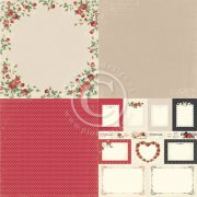 "Papper Pion Design - To my Valentine - Roses of Love 6""x6"" - 4 Delar"