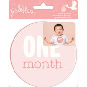 Die Cuts Pebbles - Lullaby - Baby Girl Month