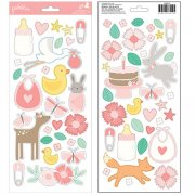 Stickers Pebbles - Lullaby - Baby Girl Icons & Accents