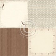 Papper Pion Design - Shoreline Treasures - Sea Horse 6x6 - 4 Delar