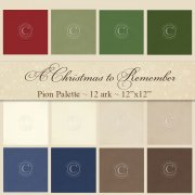 Cardstock Pion Palette - A Christmas To Remember - 12 ark
