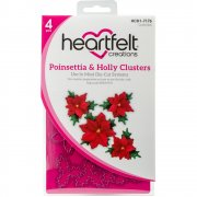 Heartfelt Creations Poinsettia & Holly Clusters