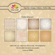 Paper Pad Dixi Craft 6x6 - Wedding Background - 24 ark