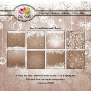 Paper Pad Dixi Craft 6x6 - Snow Crystal - Brown - 24 ark