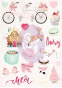 Puffy Stickers - Prima Marketing - Santa Baby