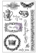 Cling Rubber Stamp 4x6 Prima - Tales Of You & Me - Icons