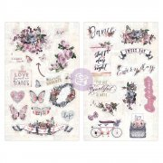Prima Chipboard Stickers - Lavender Icons
