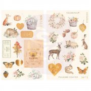 Prima Chipboard Stickers - Autumn Sunset - 34 st