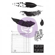 Prima Cling Stamps + Stencil - Midnight Garden