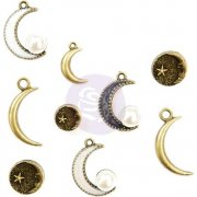 Prima Metal Trinkets - Moonchild - 9 st