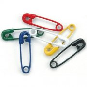 Mini Painted Safety Pins - Primary 50 st