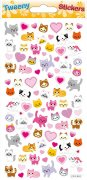 Softy Stickers 3D - Tweeny - Cats and Hearts