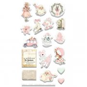 Puffy Stickers Prima Marketing - Sugar Cookie - 18 st