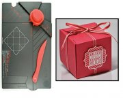 Gift Box Punch Board We R Memory Keepers - Red