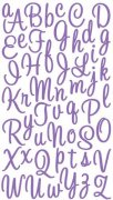 Alfabet Stickers - Sweetheart Script Purple Glitter