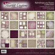 Paper Pad 12x12 - Heartfelt Creations - Raindrops On Roses