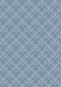 Papper A4 Basic - Vintage Blue Swirls
