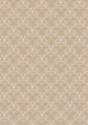 Papper A4 Basic - Vintage Beige Swirls