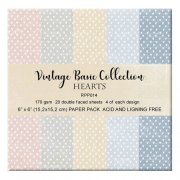 Paper Pad Reprint 6x6 - Vintage Basic Hearts