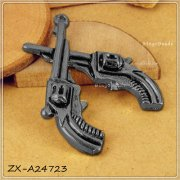 Charms 10 st - Svart Revolver 30mm