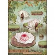 Rispapper A4 Stamperia - Amazonia - Water Lily