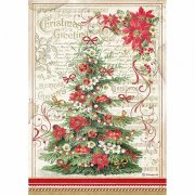 Rispapper Stamperia - Classic Christmas - Christmas Greetings Tree