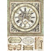 Rispapper Stamperia A4 - Lady Vagabond - Clock with Mechanisms