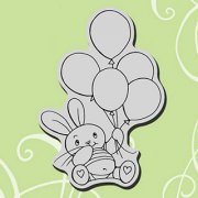 Cling Rubber Stamp - Balloon Bunny - Stampendous