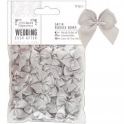 Wedding Ribbon Bows - 100 st - Silver