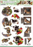 Decoupage A4 - Amy Design Punchout Sheet - Horse & Cow