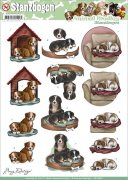 Decoupage A4 - Amy Design Punchout Sheet - Dogs