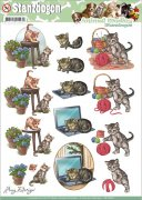 Decoupage A4 - Amy Design Punchout Sheet - Cats