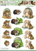 Decoupage A4 - Amy Design Punchout Sheet - Fluffy Animals
