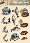 Decoupage A4 - Amy Design Punchout Sheet - Fishing