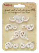 Polymer Figurer Ornament Swirls - Scrapberry's - 6 st