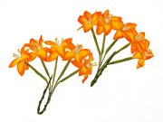 Stemmed Lily - Scrapberry's - 10 st - Yellow/orange