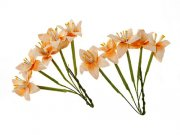 Stemmed Lily - Scrapberry's - 10 st Peach