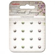Scrapberrys Pearl Brads - French Journey - 16 st