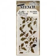 Schablon Tim Holtz - Layering Stencil - Holly Bough