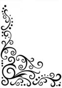"Embossing Folder 5""x7"" - Scroll Flourish Corner"