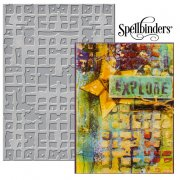 "Large Embossing Folder 5""x7"" - Spellbinder - Gridiron"
