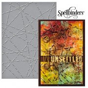 "Large Embossing Folder 5""x7"" - Spellbinder - Lazer Beams"