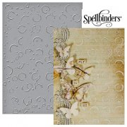 "Large Embossing Folder 5""x7"" - Spellbinder - Splattered Circles"