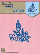 Shape Dies Nellie Snellen - Christmas Candle