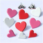 Shape Brads - Hearts - 12 st