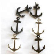 Shape Brads - Metallic Anchor - 12 st
