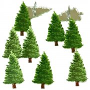 Shape Brads - Pine Tree - 12 st