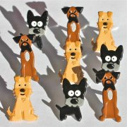 Shape Brads - Puppies - 12 st