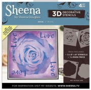 Sheena Douglass 3D Stencils - Rose