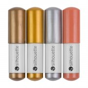 Silhouette Cameo - Sketch Pens Metallic Colors 4-pack (Brons, Koppar, Guld, Silver)